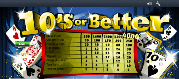 Tens Or Better Video Poker Comprehensive Review